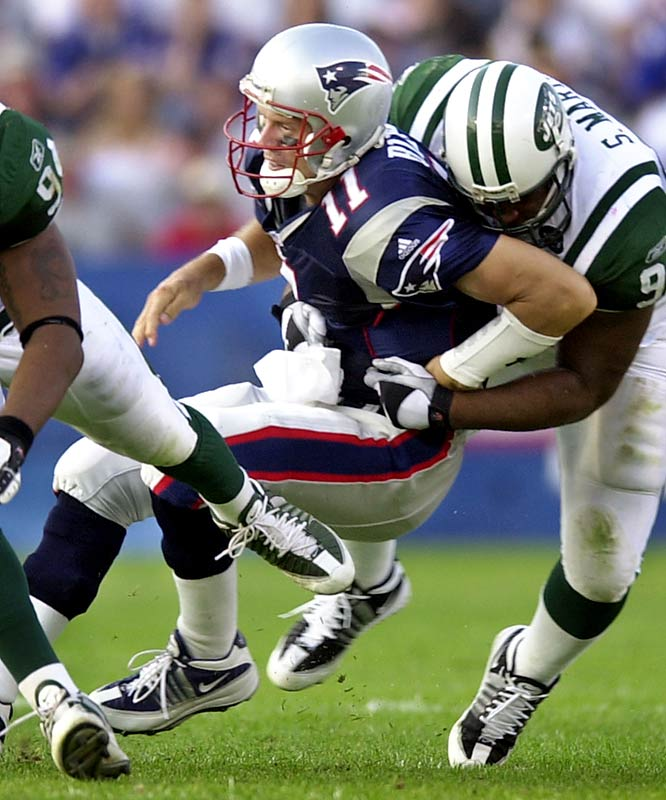 After Jets linebacker Mo Lewis injured Drew Bledsoe during Week 2 of the 2001 season, the Patriots turned to a sixth-round pick, Tom Brady. The rest, as they say, is history.
