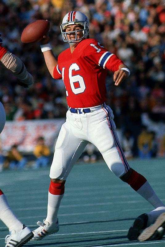 Plunkett started every game as a rookie for the Patriots, going 6-8. Interestingly enough, Plunkett would start every game for New England, and later San Francisco, from 1971 to '77, but didn't have a winning record as a starter until 1980 with the Raiders.
