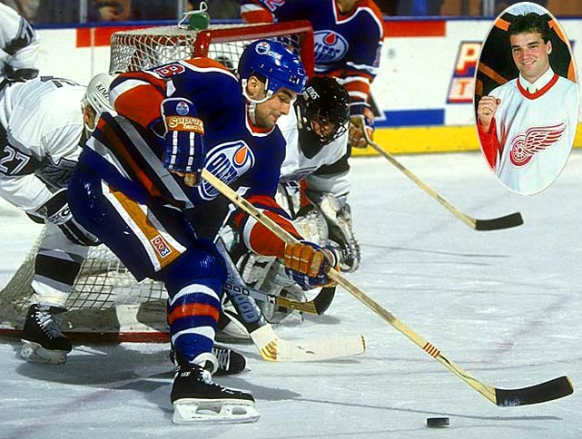 A disappointment in Detroit, Murphy skated on a Stanley Cup-winner in Edmonton in 1989-90, and had his peak season with the Oilers (35 goals in 1991-92). In all, though, his was a journeyman's career: 528 total points for seven teams over 14 seasons.<br><br>No. 2: Jimmy Carson, C, Kings<br><br>Notables: <br>Brian Leetch, D, Rangers (9)