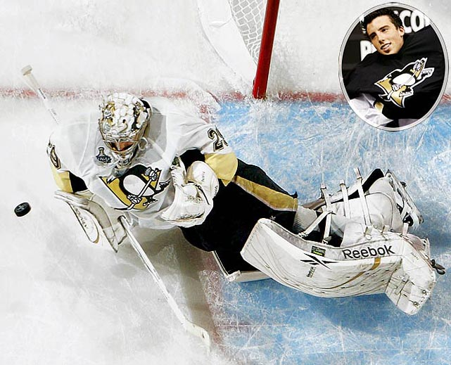 Though unnervingly erratic at times, Fleury proved his mettle during the Penguins' run to the 2009 Stanley Cup, especially during the thrilling seven-game final vs. Detroit.<br><br>No. 2: Eric Staal, C, Hurricanes<br><br>Notables: <br>Dion Phaneuf, D, Flames (9)<br>Zach Parise, C, Devils (17)<br>Ryan Getzlaf, C, Ducks (19)