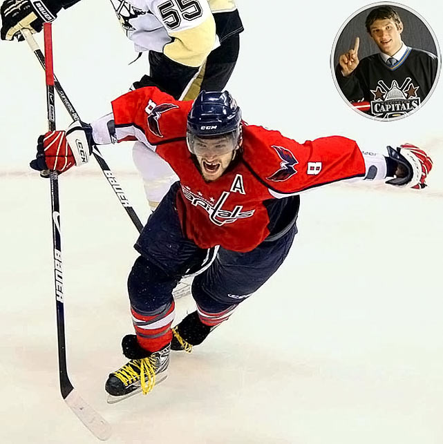 Arguably the NHL's best player (he won the 2009 Hart and Pearson MVP awards), the electrifying showman at the very least owns the title of the league's most deadly and dynamic goal-scorer.<br><br>No. 2: Evgeni Malkin, C, Penguins<br><br>Notables: <br>Cam Barker, D, Blackhawks (3)<br>Wojtek Wolski, LW, Avalanche (21)