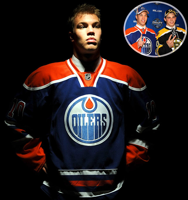 The Oilers chose Taylor over Tyler (Seguin) in a draft that had two players worthy of being selected first overall. Hall, 18, won back-to-back Memorial Cups with the Windsor Spitfires, taking home MVP honors both times. He is the fourth straight Ontario Hockey League player chosen with the No. 1 pick.<br><br>No. 2: Tyler Seguin, C, Bruins