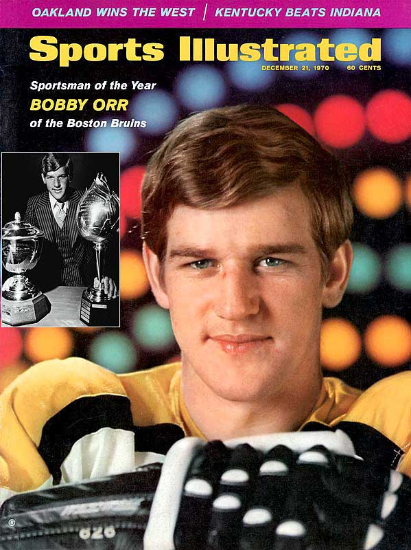 The 1966-67 Calder Trophy-winner (rookie of the year), later credited with revolutionizing the game by becoming a feared offensive force from the blueline, won the Norris Trophy (best defenseman) a record eight times. His one-season hardware haul while skating for Boston in 1969-70 speaks of the enormity of his talent: Art Ross Trophy (scoring title), Hart Trophy (MVP), and the Norris. He also won the Conn Smythe Trophy as playoff MVP that season.