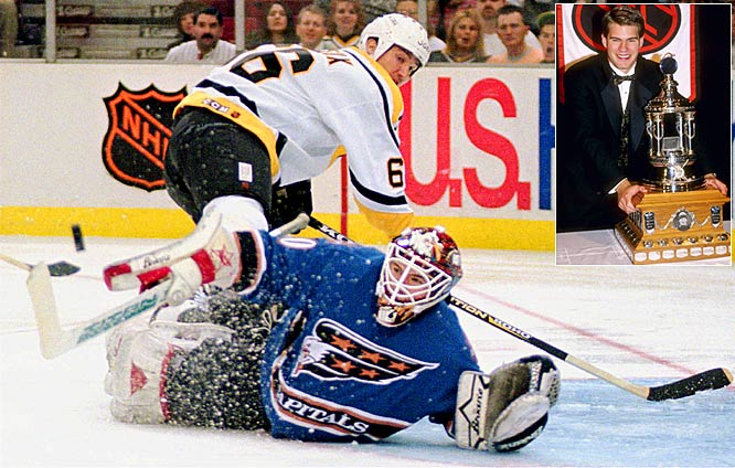 Among the many luminaries (Martin Brodeur, Patrick Roy, Jacques Plante) in the ranks of Vezina winners is Jim Carey, a Washington Capitals netminder who beat out Chris Osgood of the Red Wings for the trophy in 1996. Carey posted excellent numbers (35-24-9, 2.26 GAA, 9 shutouts), but never had another winning season and was out of hockey by 1999.