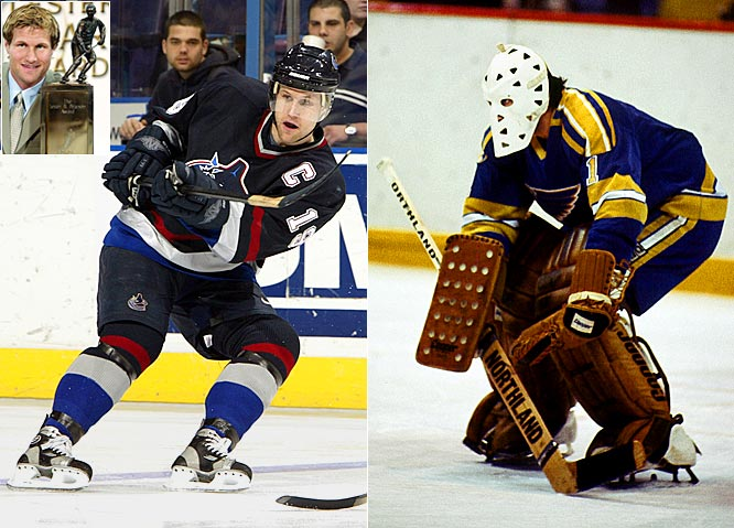 Worthy players can be overlooked by the voters of the Professional Hockey Writers Association, but sometimes their peers rectify it with the Pearson Award (MVP as chosen by the players). In 2003, Markus Naslund won the Pearson after scoring 104 points for Vancouver but finished second to Peter Forsberg (106) in the Hart voting. Goaltender Mike Liut had no shot for the Hart against the likes of Wayne Gretzky (164 points) in 1981, but was awarded the Pearson for his stellar 33-14-13, 3.34 GAA season for St. Louis.