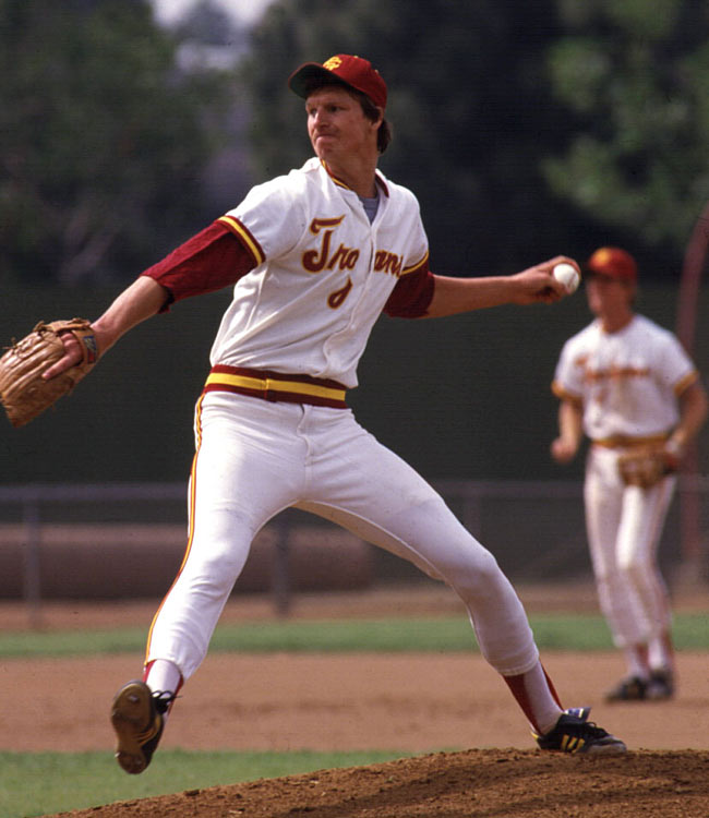 Johnson showed promise during his first two seasons at Southern Cal and expectations were high going into his junior year. Unfortunately, Johnson led the nation in walks with 104 in 118 innings and won only six games as the Trojans finished with the Pac-10's worst record.