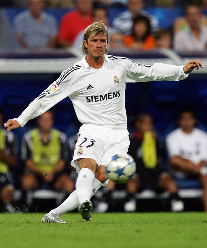 In 2004, <i>France Football</i> magazine named Beckham the highest-paid soccer player in the world, citing earnings of approximately $27 million. The sum put Becks above fellow stars Ronaldo, Zinedine Zidane, Raúl and Roberto Carlos.