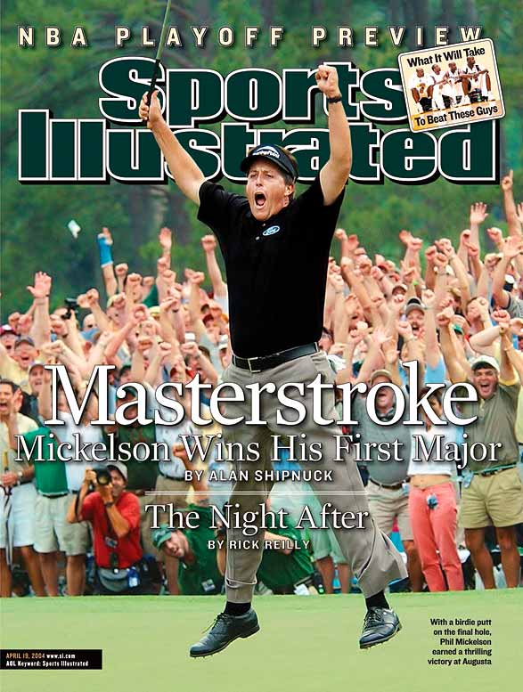 "After 17 career top 10s in the majors, including three straight third-place finishes at Augusta, Mickelson proved himself in the most audacious fashion imaginable: he birdied five of the last seven holes to finish with a 31 on the final nine on the final Sunday. ""Now we can finally stamp him APPROVED,"" said Davis Love III, a close friend of Mickelson's. ""It's like a...what's the right word?... It's like a coronation."""