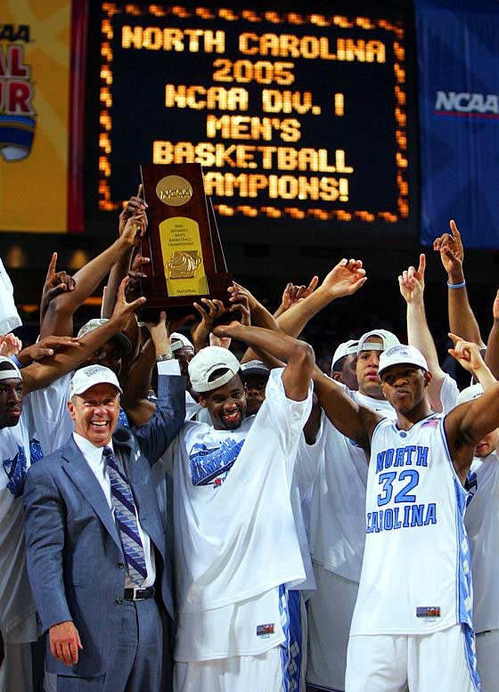 For so long he had been the most successful college coach without a title: Williams had been to four Final Fours and two national championship games during 15 years at Kansas. But a return to his alma mater provided the ultimate prize: North Carolina's 75-70 victory over Illinois gave Williams his long-awaited national championship.