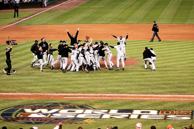 The Sox won a World Series for the first time since World War I, beating the Houston Astros in a four-game sweep. The team had not won a Series since 1917 and hadn't played in one since 1959.  The 88 years between the White Sox win in 1917 was the longest gaps between World Series titles in major league history.