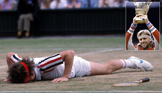 In a true clash of opposites, the stoic Bjorn Borg and his baseline game butted against the emotional John McEnroe and his net mastery, a rematch of the previous year's U.S. Open won by McEnroe. This epic test of endurance was highlighted by a 22-minute tiebreaker in which McEnroe fended off five match points to claim the fourth set 18-16. Yet Borg persevered to win the deciding fifth set, claiming his fifth straight Wimbledon crown.