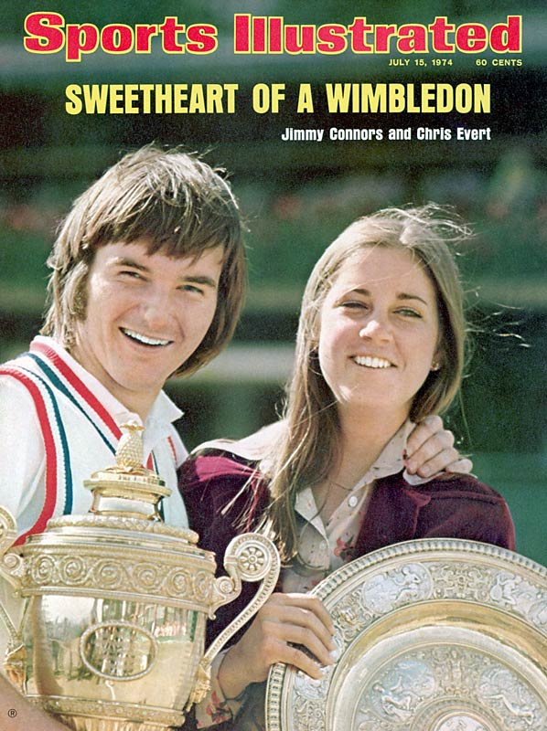 American sweethearts Jimmy Connors, 21, and Chris Evert, 19, who were engaged to be married later that year, were both Wimbledon champions in 1974. Connors was pictured with fiancee Evert on the cover of SI's July 15, 1974, issue.