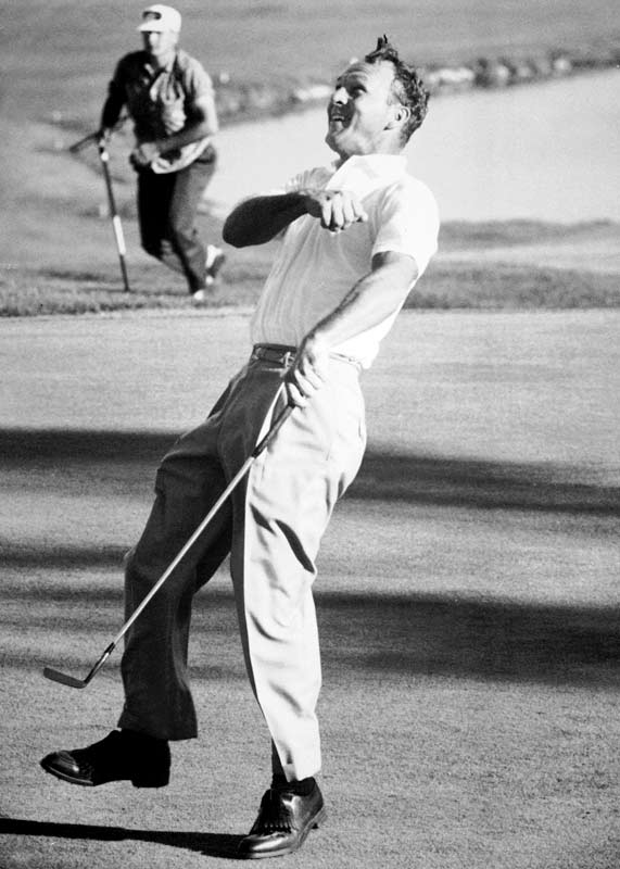 For driving the 346-yard first hole at Cherry Hills in the final round of the '60 U.S. Open, which jump started his comeback from seven shots down. For screwing up the '66 U.S. Open at Olympic with an assortment of crazy-man shots from gnarly lies. And for taking the break out of countless putts at Augusta National by hitting the ball way over the speed limit.