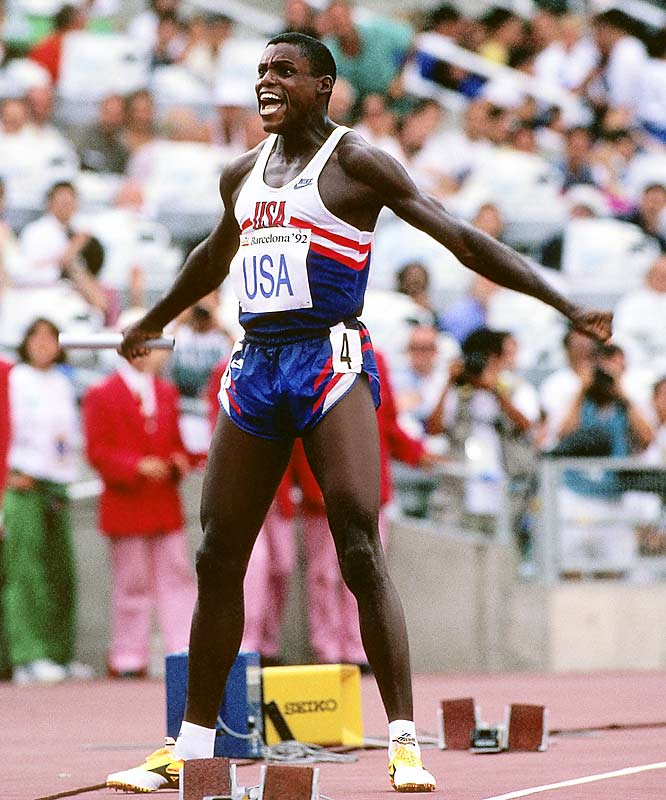 Never mind the nine Olympic gold medals. Never mind the four consecutive golds in the long jump. Where King Carl was unsurpassed was with a baton in his hand on the anchor leg of the 4x100-meter relay. There is no moment in track and field that ignites a crowd quite like when the stick is passed on the final turn and no sprinter was more incendiary than Lewis. His anchor at Barcelona in the 1992 Olympics may have been the most compelling ever, reducing a stadium to exhausted awe.