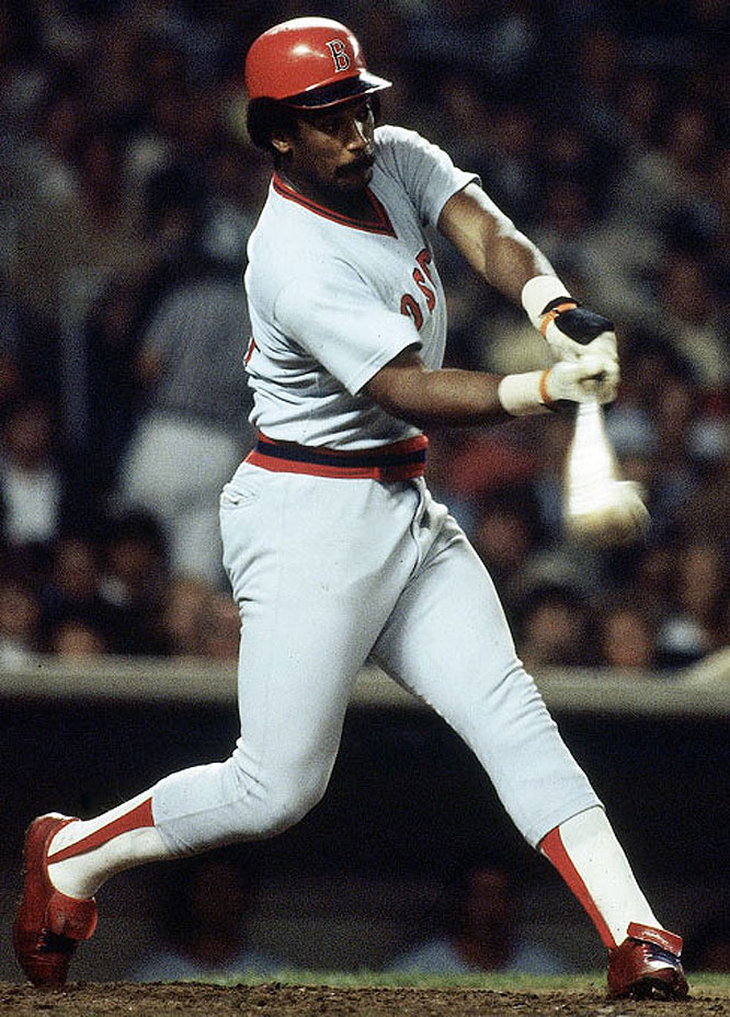 Jim Rice batted .298 with 382 home runs and 1,451 RBIs from 1974-89. He drove in 100 or more runs eight times, batted over .300 seven times