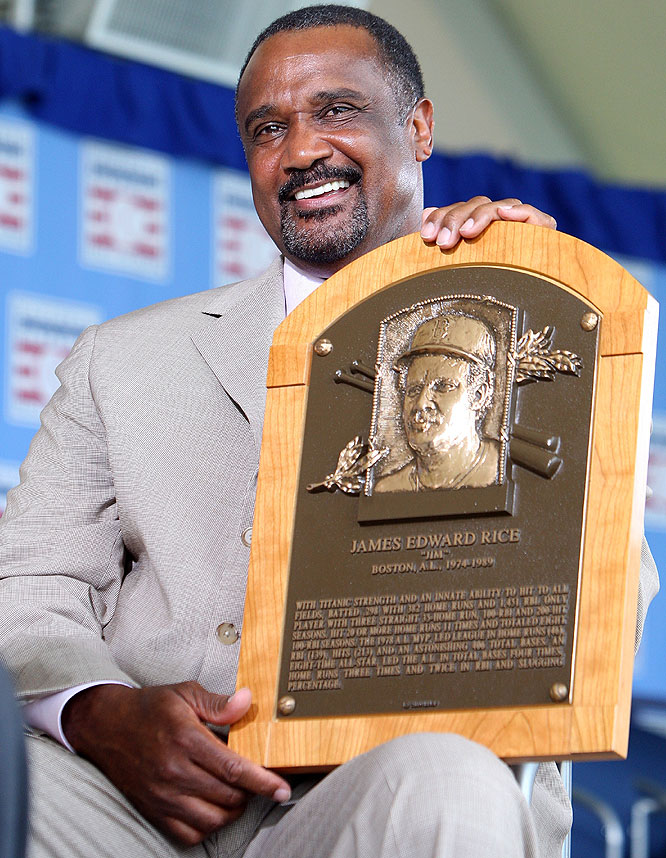Former Boston slugger Jim Rice had to wait until his final year of eligibility to be inducted into the Hall of Fame.