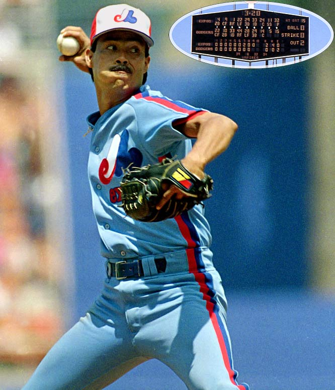 The winningest Hispanic pitcher in the history of major league baseball topped off his career with a perfect game against the first-place Dodgers, outdueling Mike Morgan. Larry Walker homered for the Expos.