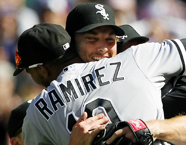 Philip Humber threw the first perfect game in almost two years, striking out nine for his first win of the season. It was the third perfecto in White Sox history, joining Mark Buehrle (Tampa Bay in 2009) and Charles Robertson (Detroit in 1922). Humber, a former first-round draft pick of the Mets who underwent Tommy John surgery in 2005, needed only 96 pitches to complete the gem.