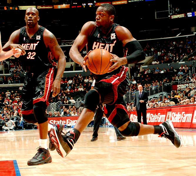 D-Wade acquired yet another nickname during his first preseason with the Miami Heat.  Former teammate Shaquille O'Neal needed the perfect sidekick name for rookie Wade, and because of his speed, Shaq dubbed Wade 'Flash' after the lightning-quick superhero.