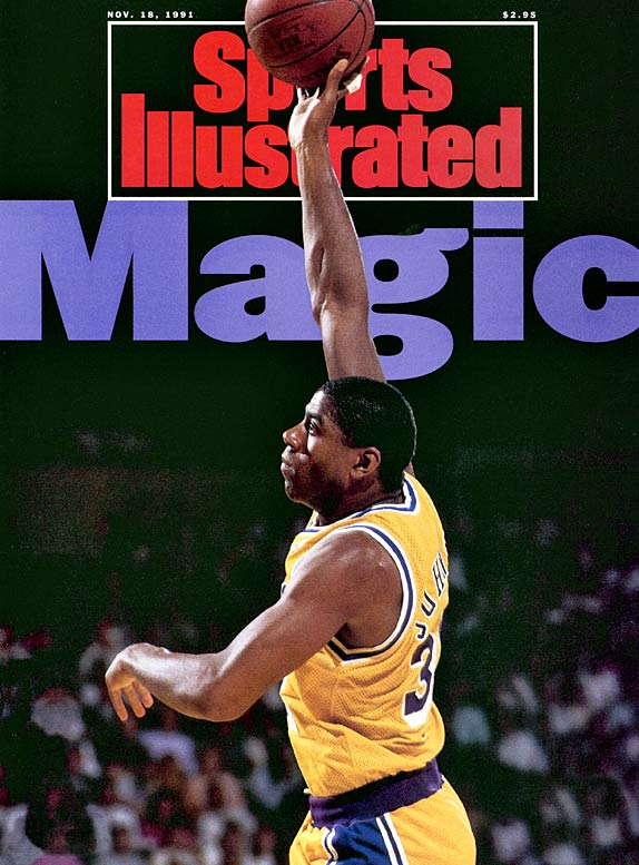 Johnson got his nickname while playing high school basketball in East Lansing, Mich. He lived up to that billing in the NBA, expertly guiding the Lakers' showtime attack with his flashy play and all-around excellence.