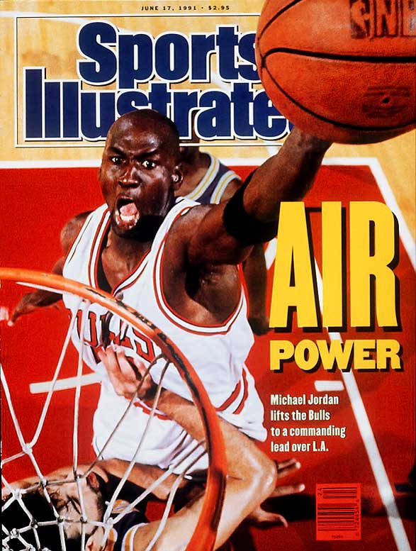 It's hard to know whether Jordan inspired the name for his his sneaker line or if the sneaker model birthed his nickname, but either way, from the moment he set (Nike clad) foot on NBA hardwood, he was Air Jordan. Jordan defied gravity and all would be-opponents for 15 seasons, winning 10 scoring titles, six championships and five MVP awards.