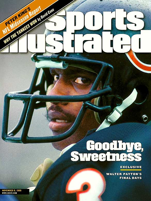 Some say Payton earned his nickname at Jackson State because of his smooth running style and others say it was a nod to his sweet demeanor, but few question the nickname's accuracy. One of the best running backs the NFL has ever seen, the 9-time Pro-Bowler accumulated 16,726 yards and 110 rushing touchdowns in his career. He was inducted into the Hall of Fame in 1993.
