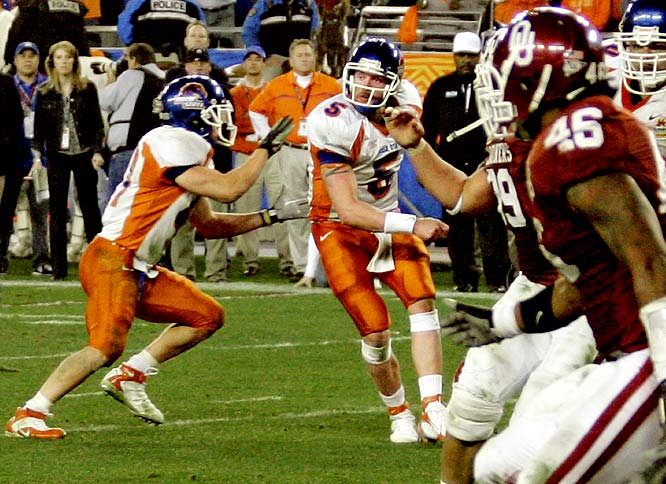 The schoolyard favorite is hardly used in the NFL but was famously pulled off in the 2007 Fiesta Bowl by Boise State, and the magic of quarterback Jared Zabransky and running back Ian Johnson (whose two-point conversion sealed the upset victory).