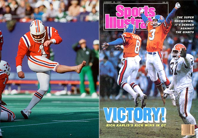 Tony Franklin (left) and Rich Karlis were the NFL's most famed barefoot kickers.