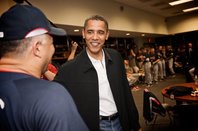 Barack Obama said he never played organized baseball as a youth.