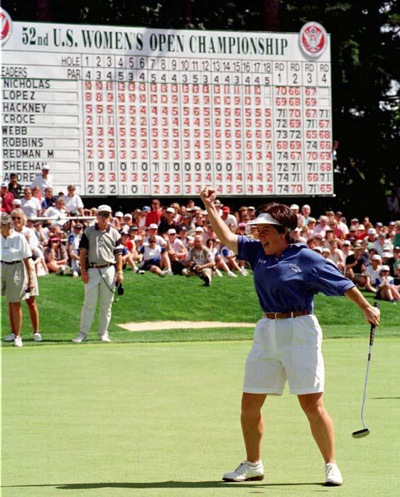 Alison Nicholas wins the  U.S. Women's Open Golf Championship at Oregon's Pumpkin Ridge Golf Club.
