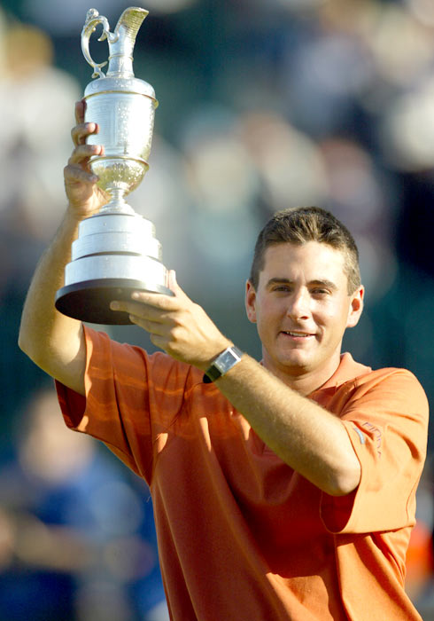 Ben Curtis, an unknown PGA Tour rookie in his first major championship, wins the British Open.