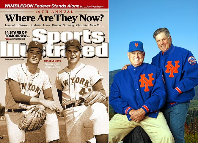 The club was a baseball comedy act from the year of its premature birth, 1962, right through 1968, losing an average of 105 games a season.  And then came the surprise of '69.  Elsewhere it was a horrible year, but New York witnessed a miracle: the Mets <i>winning</i> 100 games in the regular season, then beating the Baltimore Goliaths in the World Series.  The miracle of Flushing Meadows, Queens.  Tom Seaver, the ace on the '69 team, and Nolan Ryan, its young fireballer, reunited recently at Tom's vineyard in California.  Ryan is the president of the Texas Rangers.