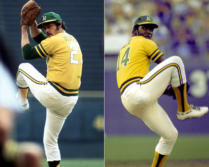 From 1969 to '74, Blue and Hunter combined to go 188-107. Blue won the MVP and Cy Young Award in 1971, and Hunter won the Cy Young in 1974 and made four All-Star teams. And of course, these two helped Oakland win three straight World Series titles from 1972 to '74.