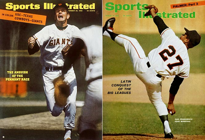 From 1964 to '71, these Hall of Famers dominated the National League. Perry posted a 2.88 ERA over that eight-year span, finishing second in the Cy Young race in 1970. Meanwhile, Marichal went 159-78 with a 2.60 ERA and made the All-Star Game seven times.