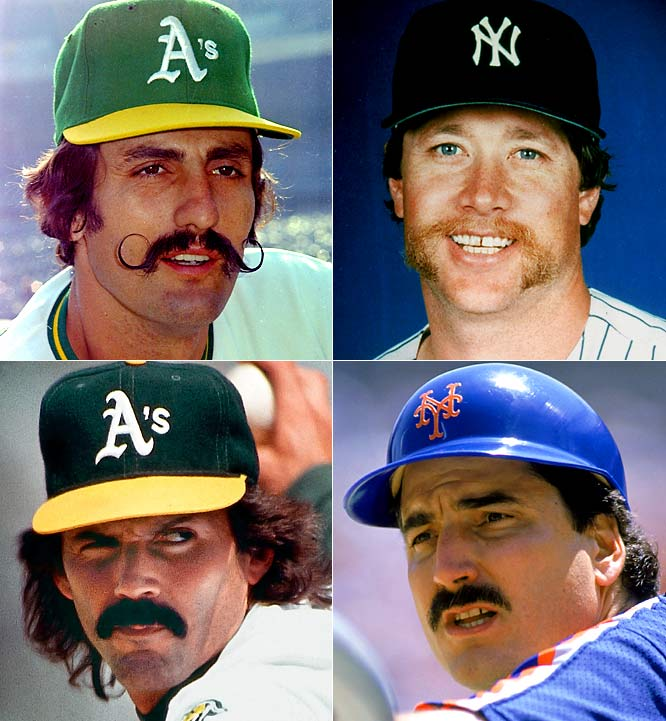 (Clockwise from left) Rollie Fingers, Goose Goosage, Keith Hernandez and Dennis Eckersley would be first-ballot selections on any All-Mustache Team.