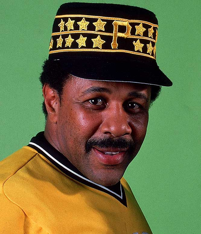 "During Pittsburgh's championship season of 1979, Pirates star Willie Stargell handed out gold ""Stargell Stars"" to teammates in recognition of various on-field achievements. According to the Hall of Fame, the stars were then sewn to the honored player's cap, either between the horizontal stripes or on the bill."