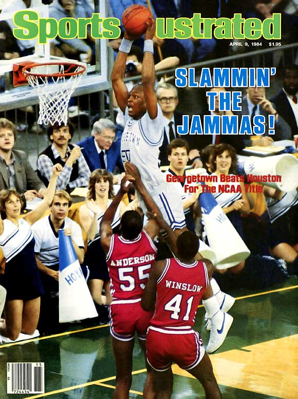 Phil Slamma Jamma was the catchy nickname for the  University of Houston men's basketball team in the early '80s. The team featured high-flying dunkers Clyde Drexler, Larry Micheaux, Benny Anders, Michael Young and Akeem (now Hakeem) Olajuwon. The Cougars made the Final Four each year between 1982 and 1984, but lost the 1983 championship game to N.C. State and the 1984 finale to Georgetown.