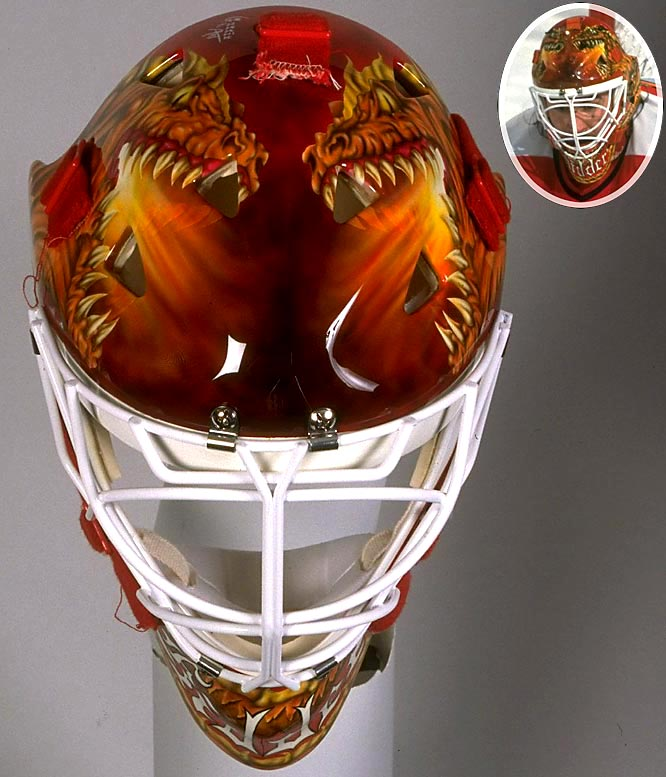 "There are two things ""Kidder"" is best remembered for.  One is being the first goalie taken (11th overall) in the 1990 draft, with Martin Brodeur, the NHL's all-time wins leader, going second (20th overall).  The other is having some of the coolest masks in the league, particularly his fire-breathing dragons while with the Flames."