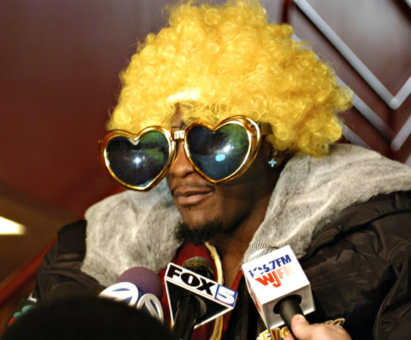 Portis is one of the biggest goofballs in the NFL. He used to sometimes wear funny costumes when doing interviews. Colored wigs, huge sunglasses, wacky shirts.Washington's star running back didn't hold back in trying to get a laugh out of his audience.