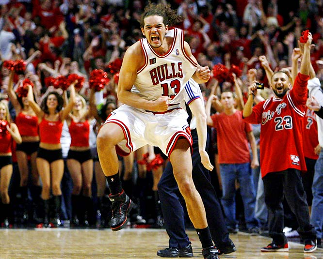 The defending champs faced the young guns and Joakim Noah put the exclamation point on a stunning three-overtime win with a steal, a dunk and a scream. It was the signature moment and game of a series that should be remembered as one of the greatest series in NBA history.
