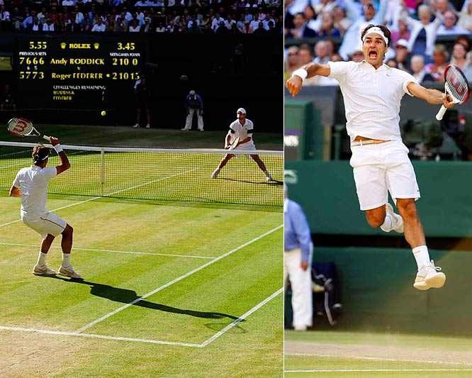 Everyone but Andy Roddick gave Federer his record-breaking 15th major title. And that's what made it special. It lasted four hours, 16 minutes. It took five sets. The fifth set alone lasted 95 minutes. But Federer finally won and made Grand Slam history. The word ''epic'' was made for performances like these, by Federer and Roddick.<br><br>What overtime would you add to the list?<br> Send comments to siwriters@simail.com