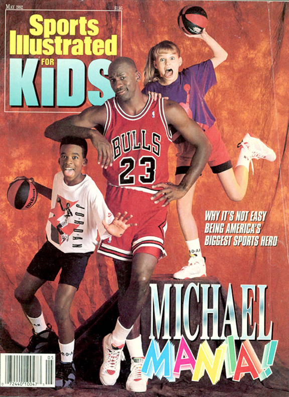 Jordan's second SIK cover shoot, for the May 1992 issue, would turn out to be the wildest. (Side note: MJ isn't the only celebrity on this cover. The girl over his left shoulder is Jennifer Morrison, who went on to become an actress and currently stars in the FOX show House M.D.).