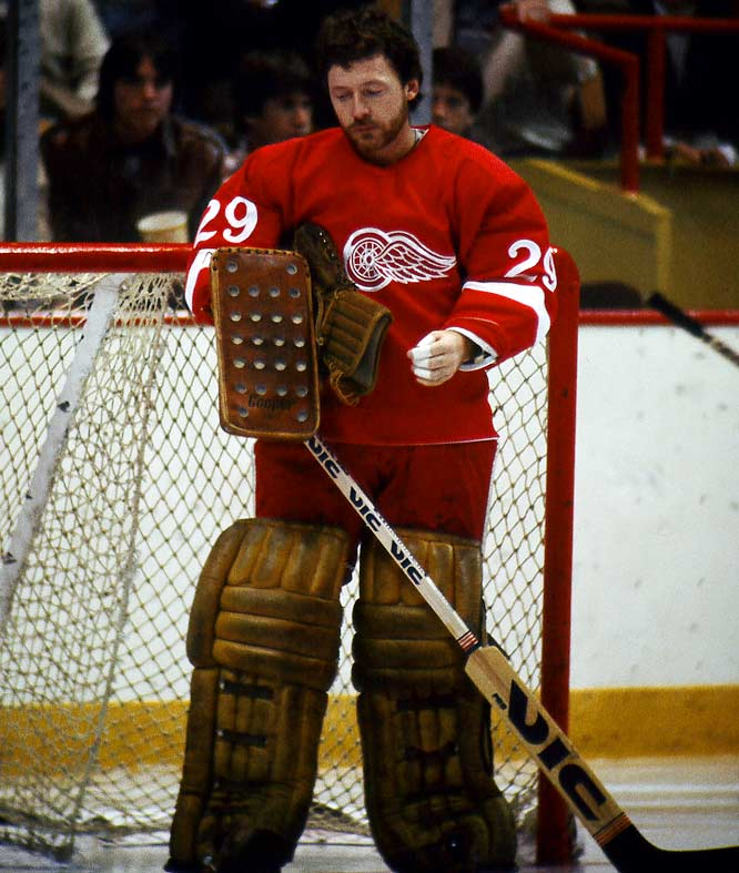 Derided as the Dead Things, this proud old Original Six franchise endured a cruel two decades that included a stretch of 11 years during which it made the playoffs once (a first-round exit in 1970) and a run of 14 sub-.500 campaigns from 1973 to `87. (The 1976-91 Vancouver Canucks hold the NHL record of 15 straight losing seasons, but appeared in the playoffs nine times, thanks to a liberally inclusive format.) Detroit's 14 included four playoff appearances that culminated in the 1987 Western Conference Finals.  <br><br>Pictured is Jim Rutherford (1970-71, 74-81, 83 Red Wings).