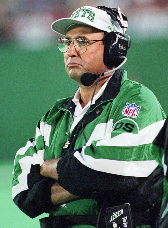 Well, this hire has many of the same problems as the Mangini hire -- Kotite had just been canned, nobody liked him, and so on. But at least Kotite was a New Yorker who had played in the NFL and he had a winning record as a coach. This WAS bad ... I think Mangini was worse.
