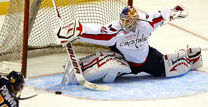 After bursting onto the scene during the playoffs, the young Russian became Washington's fourth starting goalie in the last three years. The questions now: can he hold onto the job and is he ready to handle the outrageously high expectations for this team? There's no denying that Varlamov has the talent to be a special stopper in this league, but his meltdown against the Penguins underscored a young player who is just starting out on his journey.