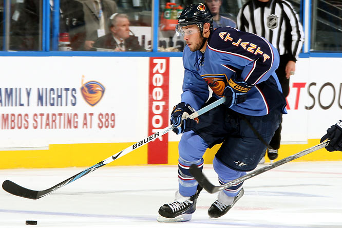 Bogosian's train was derailed early on last season when a broken leg sidelined him for two months, but he was a monster over the final 48 games -- a constant physical threat who led all freshmen blueliners with nine goals and excelled under an increasingly onerous workload that topped out at 28:32 in one March game. The arrival of Pavel Kubina means Bogo doesn't have to skate on the top pair, but there's every reason to believe he could.
