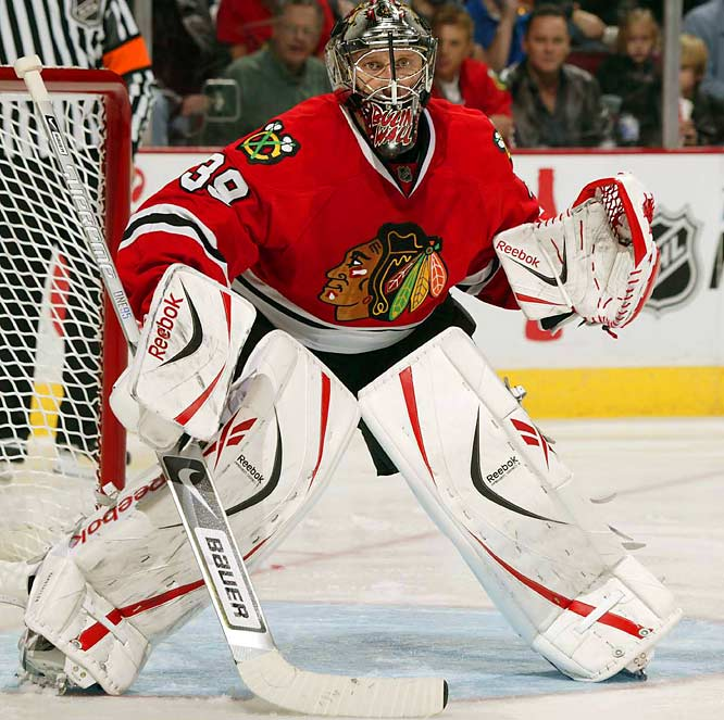 """Someone tabbed me the Bulin Wall [after the Berlin Wall] and it stuck,"" the Russian goaltender and veteran of the Red Army team told ESPN in 2002. True to the impenetrable nature of his nickname, Khabibulin backstopped the Tampa Bay Lightning to the Stanley Cup in 2004. Fittingly, the artwork on his mask is based on the classic Pink Floyd album ""The Wall."""