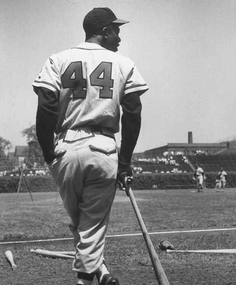 In an online exclusive, the great Hank Aaron, captured here by LIFE photographer George Silk during a 1957 Milwaukee Braves game, spoke with LIFE.com about his own extraordinary career, as well as other players--many of them Hall of Famers and good friends--who helped make his life in baseball (and the lives of fans who follow baseball) so rich, and so much fun, for so many years.