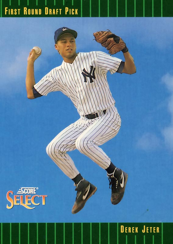Jeter's 1993 rookie baseball card.