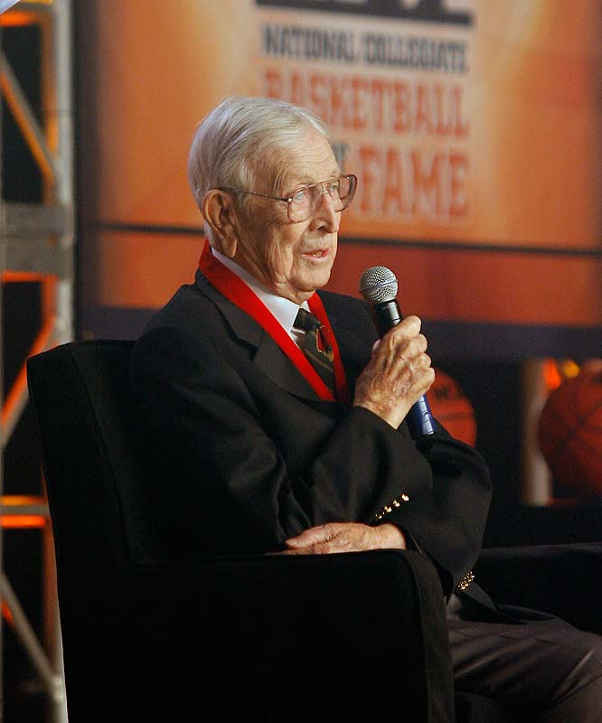 Wooden was inducted into the first-ever National Collegiate Basketball Hall of Fame class in 2006, a class that included Dean Smith, Bill Russell, Oscar Robertson and James Naismith.  He is also in the Basketball Hall of Fame, both as a player (class of 1961) and a coach (1973).
